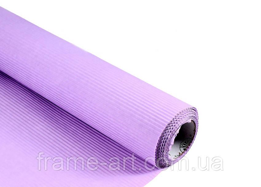 Упаковочная бумага  Крафт 70*см гофра светло фиолетовая