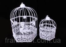 Декоративна металева клітка біла 14*16*20см 502-3335