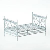 Металева міні-ліжко 10,5*6*5,5 см біла