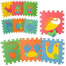 Детский Коврик Мозаика Пазл для пола М 0388 морские обитатели, 10 деталей, упаковка 29х29х8 см
