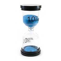"""Часы песочные (10 минут) """"Синий песок"""" (10х4,5х4,5 см)"""