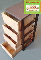 Комод пластиковый Ротанг Еlif (Элиф), 4 ящика., фото 1