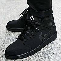 """Оригинальные кроссовки Air Jordan 1 Mid """"Black"""" (554724-040)"""