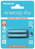 Аккумулятор AAA 550mAh Panasonic Eneloop Lite Ni-MH блистер (2шт) (BK-4LCCE/2BE)
