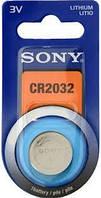Батарейка таблетка CR2032 Sony Lithium блистер (1шт) (CR2032BEA)
