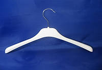 Детская белая пластмассовая вешалка плечико 33см для верхней одежды без перекладины
