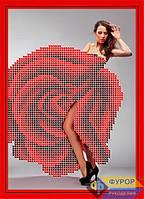 Схема для вышивки бисером - Девушка-роза, Арт. ДБч5-128