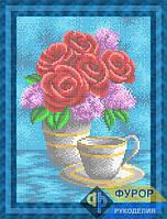 Схема для вышивки бисером - Букет из роз и сирени, Арт. НБп4-114-1