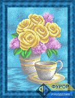 Схема для вышивки бисером - Букет из роз и сирени, Арт. НБп4-114-2