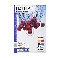 Бумага 10*15 20л сатин микропористый 260г/м2 PS260-20 ColorWay (PS2600204R)