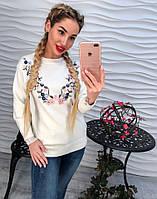 Женский модный вязаный свитер (3 цвета)