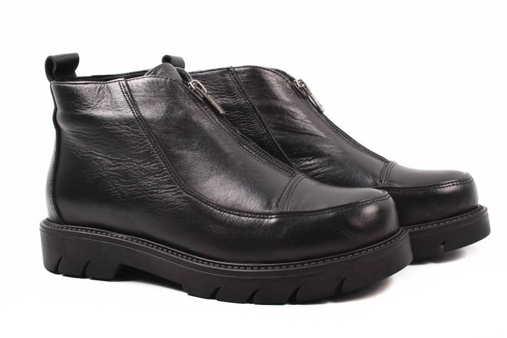 852963478 Ботинки женские Molly Bessa натуральная кожа, цвет черный (ботильоны,  каблук, весна\