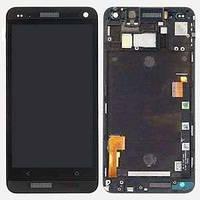Дисплей HTC One M7 Dual Sim 802w с сенсорным экраном Black (high copy)