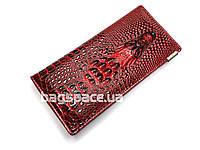 Кошелёк женский XGG Wild Alligator Mini, бордовый