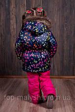 Зимний комбинезон для девочки Бабочки  р.86-122, фото 3