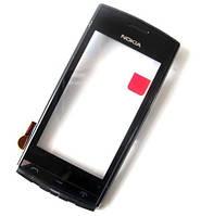 Сенсор Nokia 500 с рамкой Black (high copy)