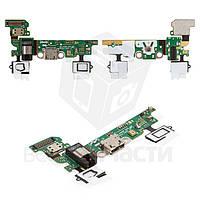 Шлейф Samsung A300F, A300FU, A300H коннектора зарядки, коннектора наушников, микрофона, кнопки Home