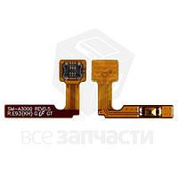 Шлейф Samsung A300F, A300FU, A300H, кнопки включения, с компонентами (high copy)