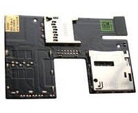 Коннектор SIM HTC Desire 500 с коннектором карты памяти на шлейфе (copy)