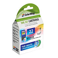 Картридж струйный ColorWay CW-H22XL-I Цветной (CW-H22XL-I)