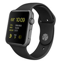 Ремень для Apple Watch 42mm силикон Black (00000038543)