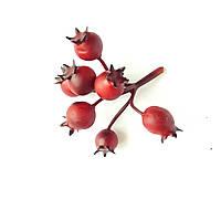 Декоративный шиповник веточка Бордовый 1 шт, фото 1