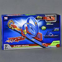 Автотрек 68801 (24/2) 2 петли, 1 машинка, 14 деталей, длина 99см, вращение на 360 градусов, в коробке