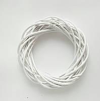 Венок из лозы Белый Основа для декорирования венка 25 см