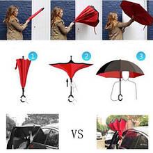Зонт UpBrella (Апбрелла), обратный зонт , однотонный