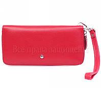 Брендовый кошелек женский на молнии Salfeite красный кожаный аналог кошельков Marco Coverna MD Leather оптом W38RED