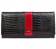 Чёрный женский кошелек из кожи в категории кошельки оптом дешево AE152BLACK