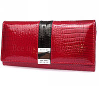 Оригинальный кожаный женский кошелек красного цвета в категории кошельки оптом Украина AE5242-1RED