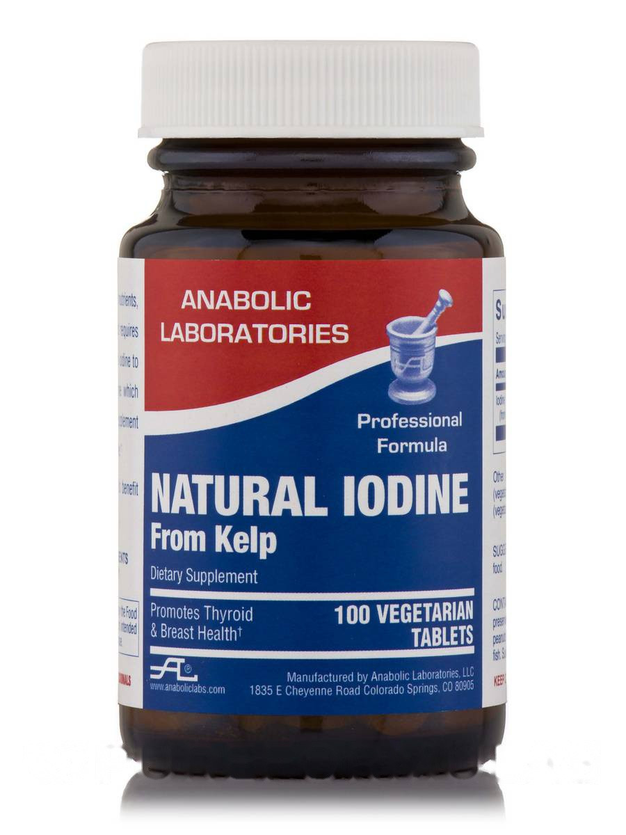 Natural Iodine from Kelp, 100 Vegetarian Tablets