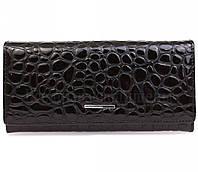 Кожаный черный портмоне - клатч для стильных женщин в категории кошельки женские оптом P150BLACK