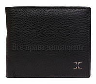 Стильное кожаное мужское портмоне двойного сложения кожа в категории кошельки оптом дешево E61481BLACK