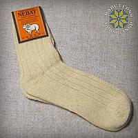 Шкарпетки з натуральної шерсті однотонні