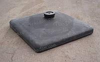 Код-Душ ED-120 пальма. Емкость для душа черная пластиковая крыша плоский 120 литров.