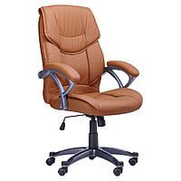 Кресло для руководителя Фокси HB кожзам коричневый (J-9022 PU Brown), фото 1