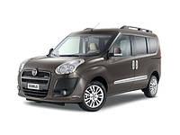 Защита заднего бампера Fiat Doblo (2010-2014)