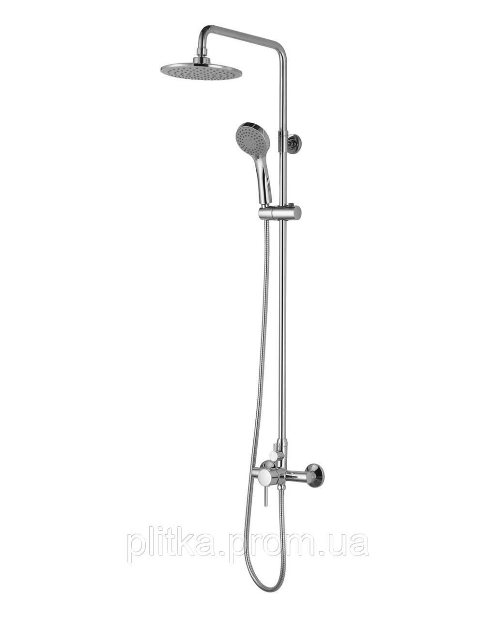 BILA SMEDA система душевая Imprese- смеситель для душа, верхний и ручной душ 3 режима, шланг 1,5м