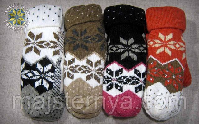 Жіночі рукавиці різних кольорів
