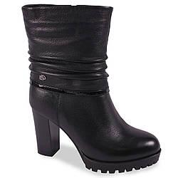 Стильные полу ботинки Lаdy Marcia(зимние, натуральная кожа, на каблуке, лаковая вставка, теплые, удобные)