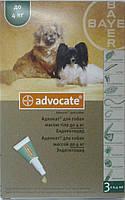 Капли на холку АДВОКАТ для собак весом до 4кг(1 пипетка)/акция, срок 05.17