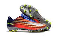 Бутсы Nike Mercurial Vapor Х FG Orange Blue, фото 1