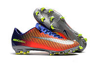 Бутсы Nike Mercurial Vapor Х FG Orange Blue