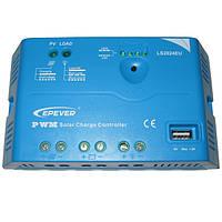 Контролер LS2024EU, ШІМ 20А 12/24В+USB EPSolar