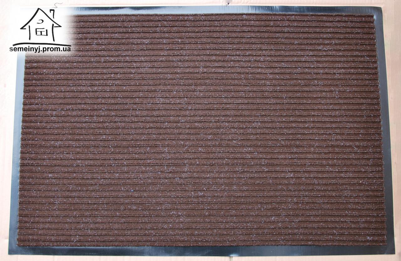 Килимок в передпокій на гумовій основі 90*60 см К040 (коричневий)