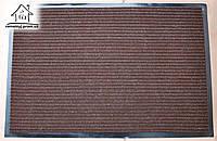 Коврик в прихожую на резиновой основе 90*60 см К040 (коричневый)