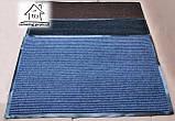 Килимок в передпокій на гумовій основі 90*60 см К040 (коричневий), фото 2