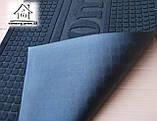 Ворсовый коврик в прихожую на резиновой основе 90*60 см К046 (коричневый), фото 2